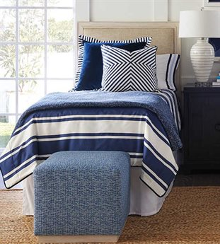 Barclay Butera Newport Crystal Cove Sailcloth Platform / Twin Bed (Custom Upholstery) BCB921131UPH