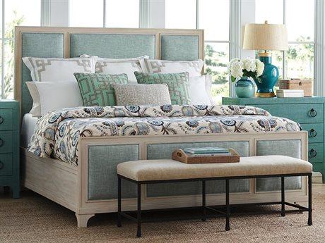 Barclay Butera Newport Crystal Cove Sailcloth King Panel Bed (As Shown) BCB921134C40