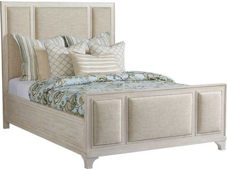 Barclay Butera Newport Crystal Cove Sailcloth California 4233-11 King Panel Bed (As Shown) BCB921135C