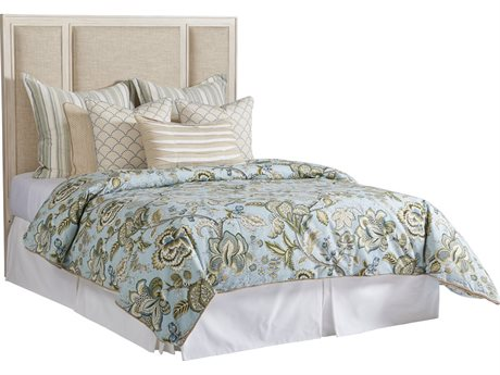 Barclay Butera Newport Crystal Cove Sailcloth Platform Queen Bed (Custom Upholstery) BCB921133HBUPH
