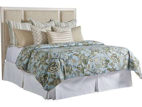 Barclay Butera Newport Crystal Cove Sailcloth Platform California King Bed (Custom Upholstery) BCB921135HBUPH