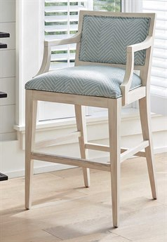 Barclay Butera Newport Eastbluff Sailcloth Bar Stool (Custom Upholstery)