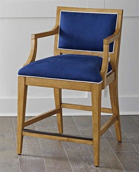 Barclay Butera Newport Eastbluff Sandstone Counter Stool (Custom Upholstery) BCB920895
