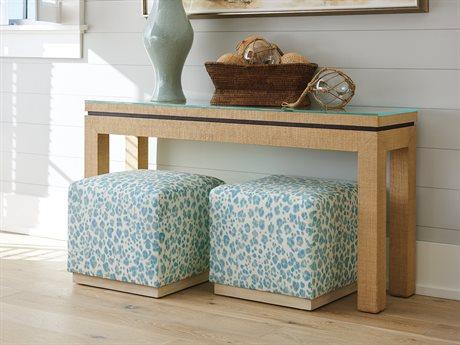 Barclay Butera Newport Sandstone Console Table / Ottoman Set BCB920967SET