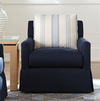 Barclay Butera Harlow 2224-11 Swivel Club Chair (As Shown)