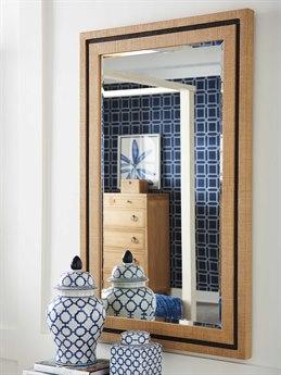 Barclay Butera Newport La Costa Sandstone Raffia 52'' x 32'' Rectangular Wall Mirror BCB920205