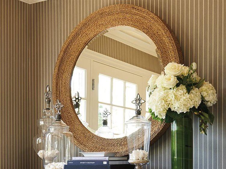 Barclay Butera Newport La Jolla Sandstone 42 Wide Round Wall Mirror