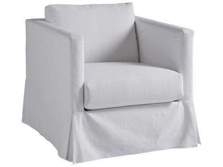 Barclay Butera Marina Slipcover Skirted Accent Chair (As Shown)