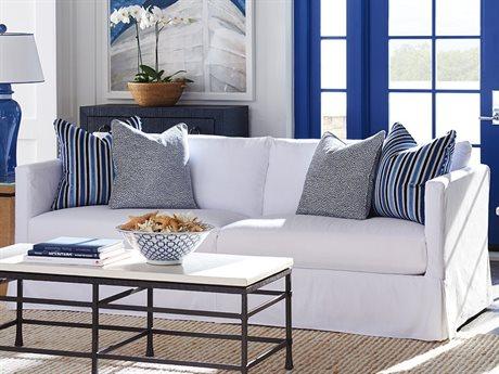 Barclay Butera Marina Slipcover 5173-31 Skirted Sofa (As Shown) BCB514033WH