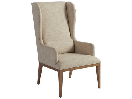 Barclay Butera Newport Seacliff Host Wing Beige Dining Arm Chair (Quick Ship) BCB92088301