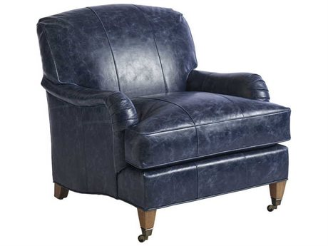 Barclay Butera Sydney Blue 9014-31 Leather Accent Chair BCB511011LL40