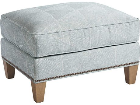 Barclay Butera Watermill 5188-21 Semi-Attached Top Ottoman (As Shown)