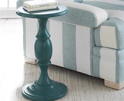 Barclay Butera Newport Yacht Club Martini Sea Glass 14'' Wide Round Pedestal Table