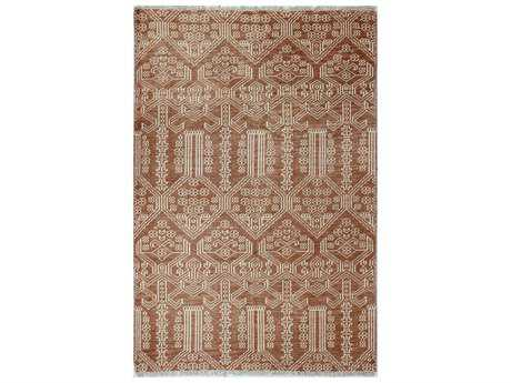 Bashian Rugs Artifact Rectangular Rust Area Rug BSHA154RUAR108