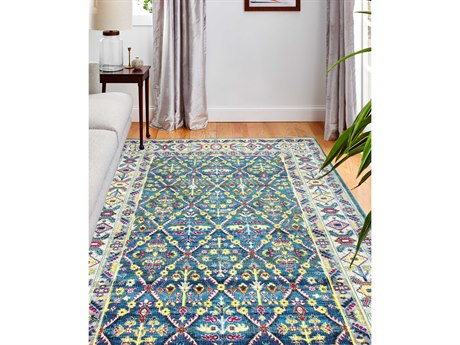 Bashian Rugs Charleston Azure Rectangular Area Rug