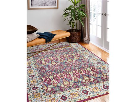 Bashian Rugs Charleston Fuchsia Rectangular Area Rug