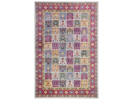 Bashian Rugs Charleston Red, Blue, Yellow, Green Rectangular Area Rug