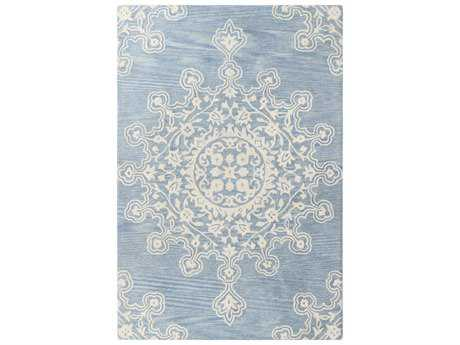 Bashian Rugs Chelsea Light Blue Rectangular Area Rug BSHS185LBLST266