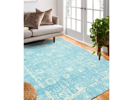Bashian Rugs Everek Aqua Rectangular Area Rug