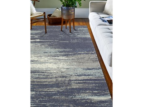 Bashian Rugs Everek Blue Rectangular Area Rug
