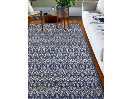 Bashian Rugs Everek Dark Blue Rectangular Area Rug