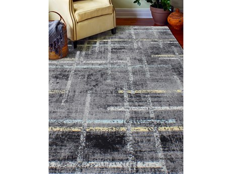 Bashian Rugs Everek Grey Rectangular Area Rug