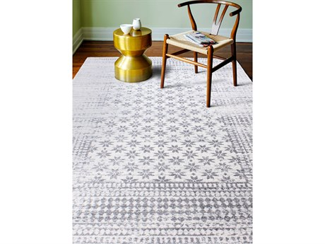 Bashian Rugs Everek Ivory Rectangular Area Rug