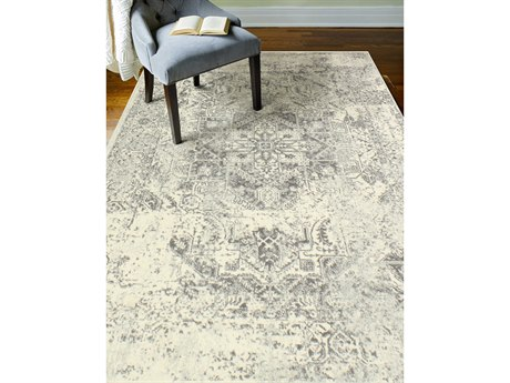 Bashian Rugs Everek Ivory & Grey Rectangular Area Rug