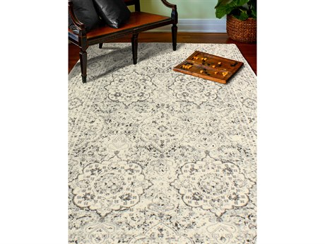 Bashian Rugs Everek Silver Rectangular Area Rug