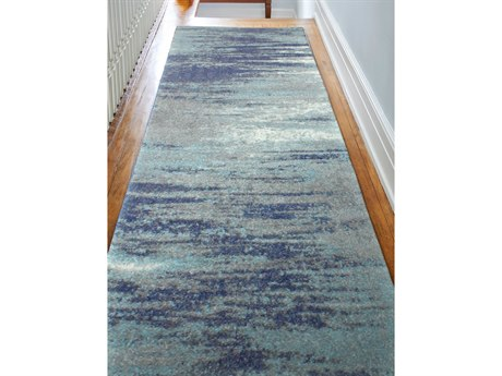 Bashian Rugs Everek Blue 2'6'' x 8' Runner Rug