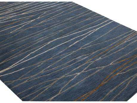 Bashian Rugs Greenwich Rectangular Azure Area Rug