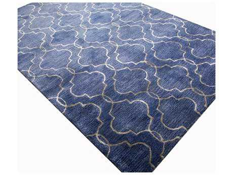Bashian Rugs Greenwich Rectangular Denim Area Rug BSHR129DENHG266