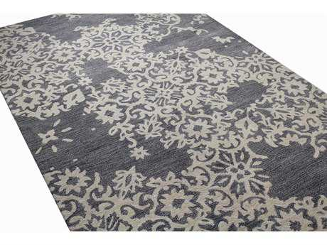 Bashian Rugs Greenwich Rectangular Grey Area Rug BSHR129GYHG315