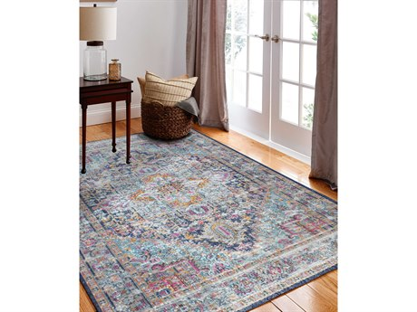 Bashian Rugs Heritage Dark Blue Rectangular Area Rug