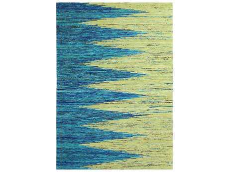 Nourison Graphic Illusions Ivory Blue Rectangular Area Rug