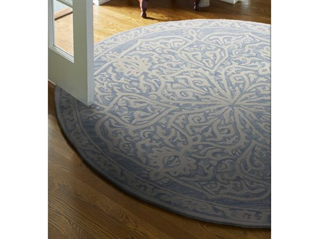 Bashian Rugs Verona Light Blue Round Area Rug