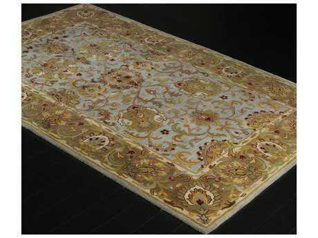 Bashian Rugs Wilshire Rectangular Light Blue Area Rug BSHR128LBLHG117