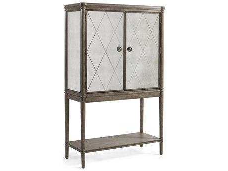 Bassett Mirror Abrielle White Peony Tea Bar Cabinet BA2485LR475