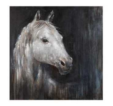Bassett Mirror Belgian Modern Mystical Horse Canvas Wrap Wall Art BA7300153EC