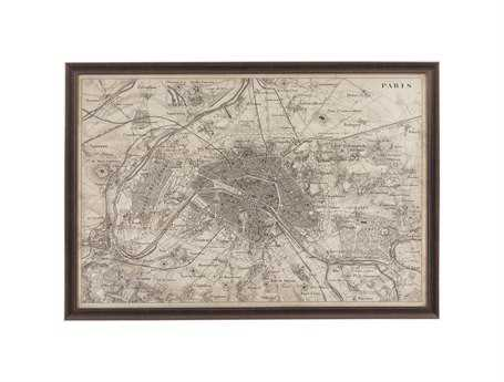 Bassett Mirror Belgian Modern Map of Paris Wall Art BA9900256EC