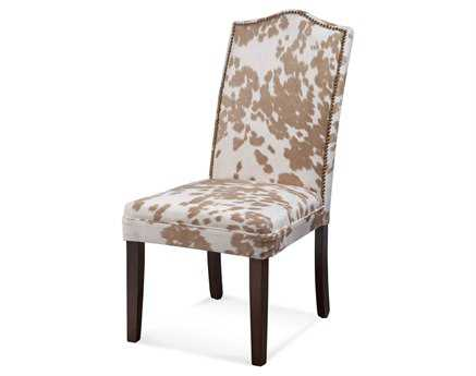 Bassett Mirror Belgian Modern Multi-color Camelback Nailhead Parsons Side Chair BADPCH13766EC