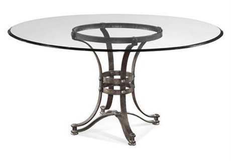 Bassett Mirror Belgian Modern 54 Round Brown Tempe Round Dining Table BAD2660700095EC