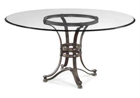 Bassett Mirror Belgian Modern 60 Round Brown Tempe Round Dining Table BAD2660700906EC