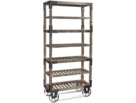 Bassett Mirror Belgian Modern Weathered Gray Foundry Rack BAA2045EC