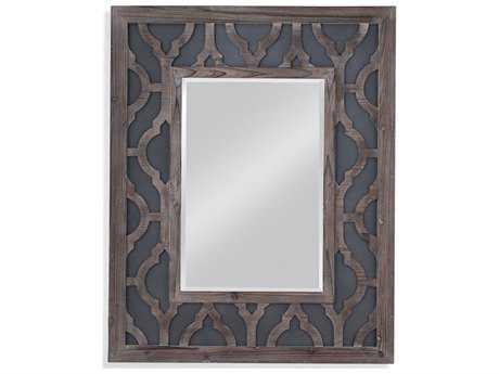 Bassett Mirror Belgian Luxe Lavanne 40'' x 50'' Gray Wash with Zinc Metal Wall Mirror BAM3993BEC