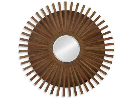 Bassett Mirror Belgian Luxe Murray 42'' x 42'' Natural Wood Wall Mirror BAM4018EC