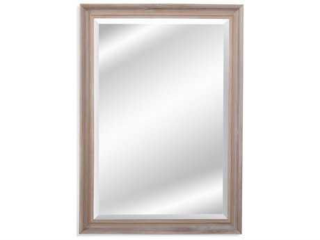 Bassett Mirror Belgian Luxe Harleigh 29'' x 41'' Natural Wood Wall Mirror BAM4026BEC