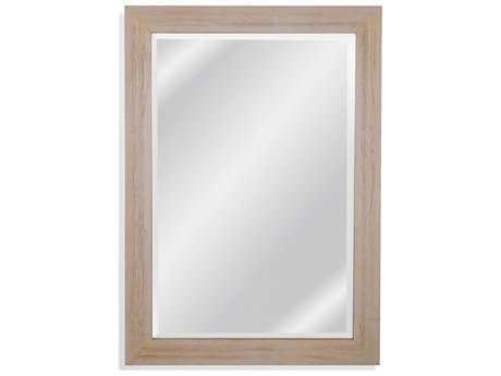 Bassett Mirror Belgian Luxe Briggs 30'' x 41'' Distressed White Wall Mirror BAM4027BEC