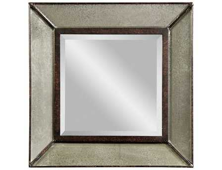 Bassett Mirror Belgian Modern 20 x 20 Clear Antique Edinborough Wall Mirror BAM3301BEC