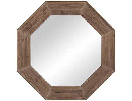 Bassett Mirror Belgian Modern 48 x 48 Driftwood Gray Granby Wall Mirror BAM3595EC